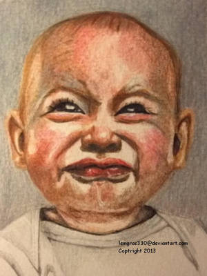 Crying Baby  1  of 4  Colored Pencil by lemgras330