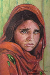 Afghan Girl ~ 2 Colored Pencil by lemgras330
