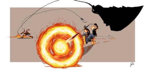 Ghost Rider VS Kratos by 1981kuro