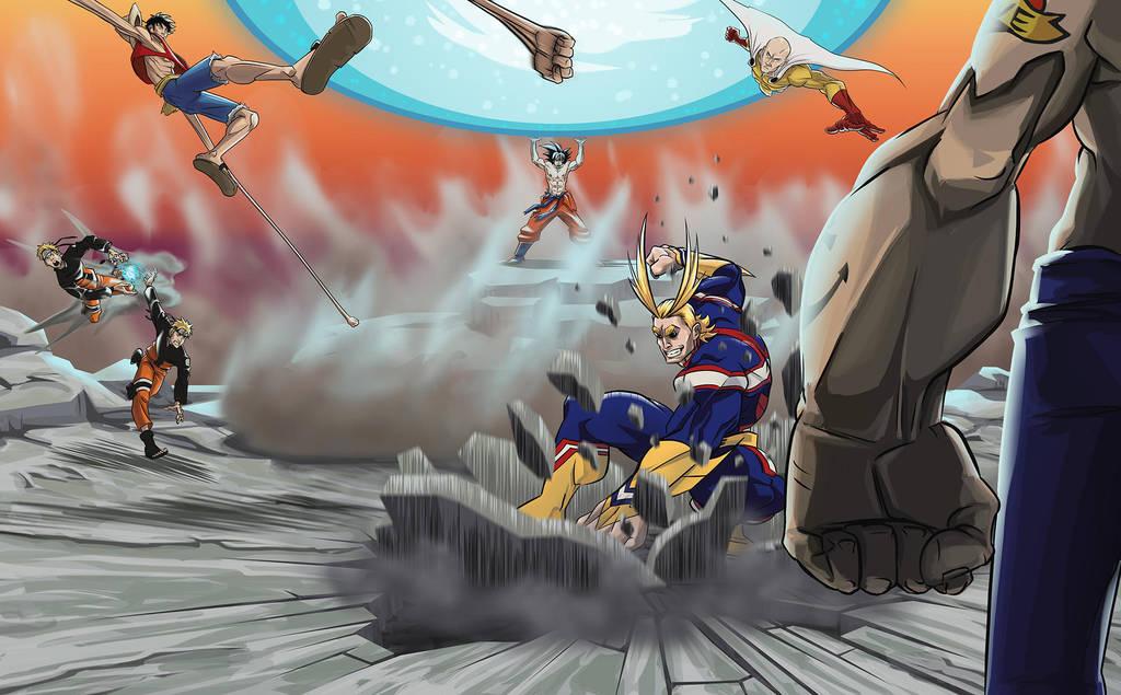 Popeye vs Shonen Manga by 1981kuro
