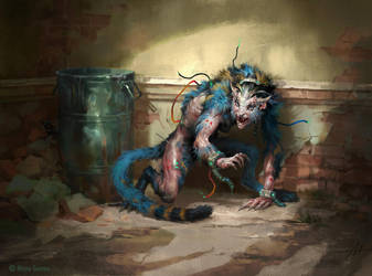 Mythgard. Cornered Wildcat by mokhman