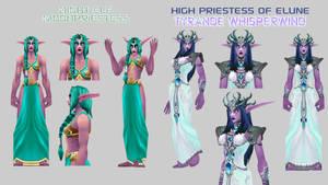 Tyrande and Moon Priestess BETA  By Vaanel by Vaanel