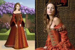 Princess Margaret's Orange Dress by LadyAquanine73551