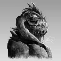 Rock Demon by LukeFielding