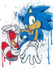 Sonic The Hedgehog by LukeFielding