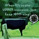 Inspiration from a Disgruntled Cow by 2by3Artist