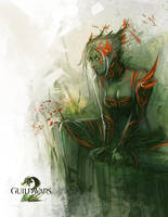 Guild Wars 2 | Sylvari Fanart by ARTazi