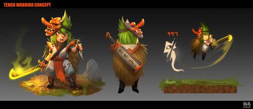 Tengu Warrior Concept by ARTazi