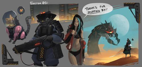 Sector 051: Sketchdump by ARTazi