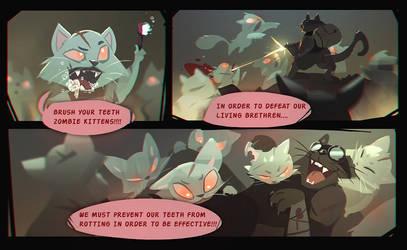 ZOMBIE KITTY PROBLEMS by ARTazi