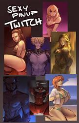 Twitch | Pinup Art Request Stream by ARTazi