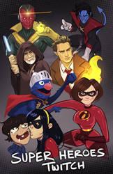 Twitch | Super Heroes Art Request Stream by ARTazi