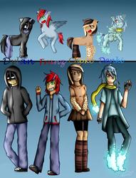 New Ocs!-Vercion Pony and Human by rainbowangeliccomics
