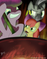 Ya do know that's jus' dandelion soup... right? by HalflingPony