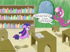But I'd Rather Be At School (ATG7 - Day 28) by HalflingPony