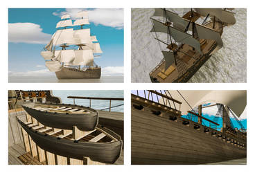 Pirate Ship Showcase by tamnguyenk
