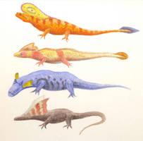 Lizardy lizards by Sphenacodon
