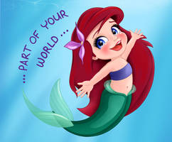 Ariel - Part of Your World by artistsncoffeeshops