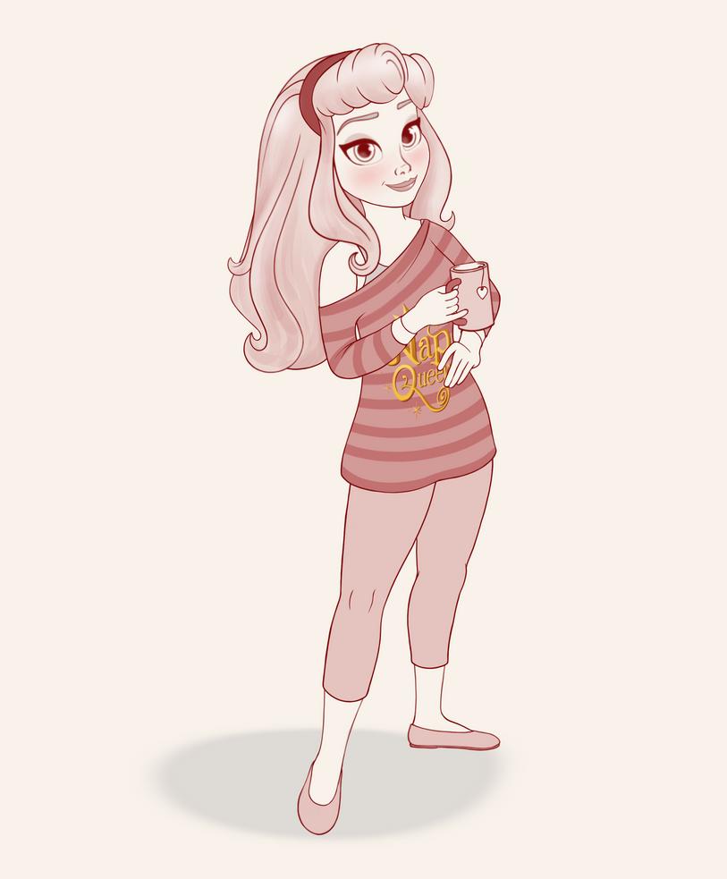 Princess Aurora Nappy Time Wip By Artistsncoffeeshops On Deviantart