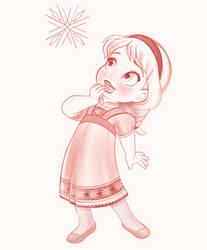 Young Elsa - It Begins (WIP) by artistsncoffeeshops
