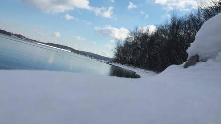 Snowy lake by StormClaw112