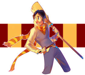 Thomas in Gryffindor by PCJelly