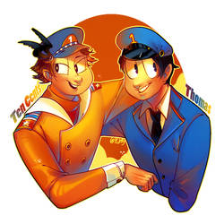 Ten Cents and Thomas humanization by PCJelly