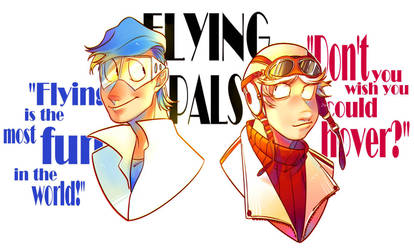 Flying pals by PCJelly