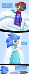 Sonic and Shadow in Frozen by xShadilverx