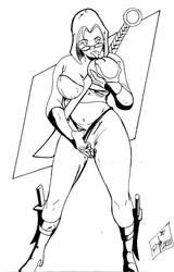 Horny Ninja Girl by IronLion82