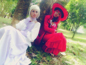 Kuroshitsuji Cosplay- Angela and Madam Red by drop-outfromhell