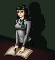 Slytherin student by ZauriArt