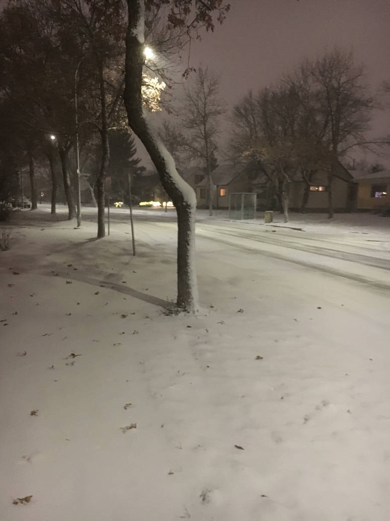Street got really hit with snow. by CMoretzfan19