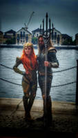aquaman and mera by FaerieFaith