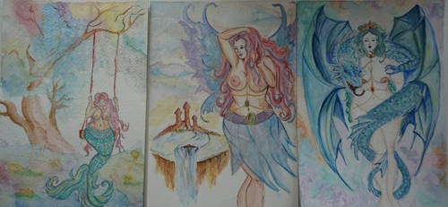 3 new paintings by FaerieFaith