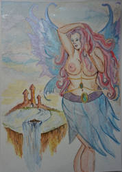 fairy watercolor.  by FaerieFaith