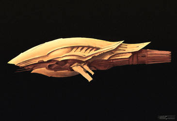 Golden Spaceship by Hextroyal