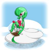 Pokemon Christmas scene No. 2 by mew-at-heart