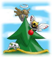 Pokemon Christmas scene no. 7 by mew-at-heart