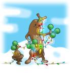 Pokemon Christmas scene no. 8 by mew-at-heart