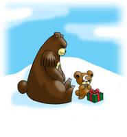 Pokemon Christmas scene no. 9 by mew-at-heart