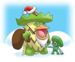 Pokemon Christmas scene no. 12 by mew-at-heart