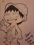 ~Chibi Luffy~ by WardenDarkwingArtist