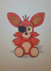 Plush Foxy (InkTober 4) by DaughterOfRen