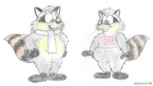 Ralph And Melissa Raccoon by BruBadger