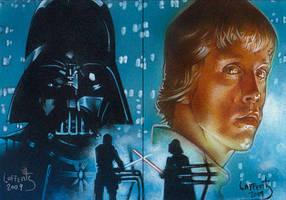 Darth Vader - Luke Skywalker by JeffLafferty