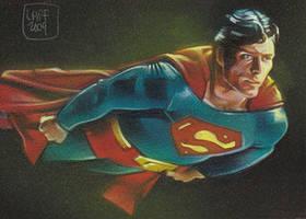 Superman - Sketch Card by JeffLafferty