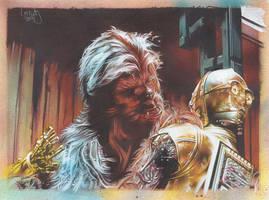 Chewbacca Fixes C3PO by JeffLafferty