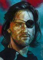 Kurt Russell As Snake Plissken Sketch card by JeffLafferty