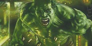 Hulk Painting by JeffLafferty